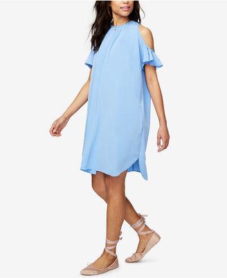 RACHEL Rachel Roy Elizabeth Cold-Shoulder Shift Dress, Only at Macy's $109 thestylecure.com