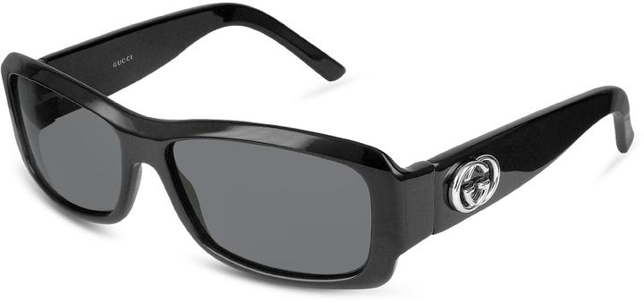 Gucci GG Logo Plastic Rectangular Sunglasses
