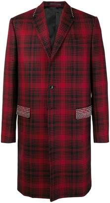 Valentino studded check coat