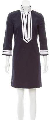 Tory Burch Contrast-Trimmed Shift Dress