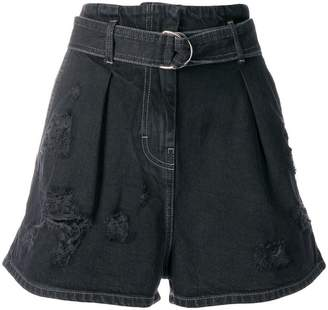 IRO distressed stonewashed shorts