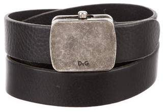 Dolce & Gabbana Leather Logo Belt