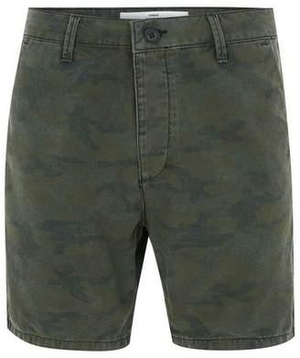 Topman Mens Khaki Camouflage Skinny Chino Shorts