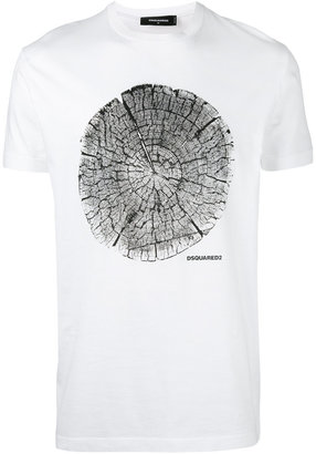 Dsquared2 tree trunk print t-shirt $152.34 thestylecure.com