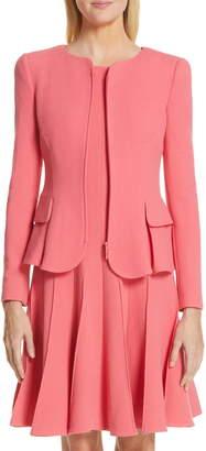 Emporio Armani Wool Crepe Peplum Jacket