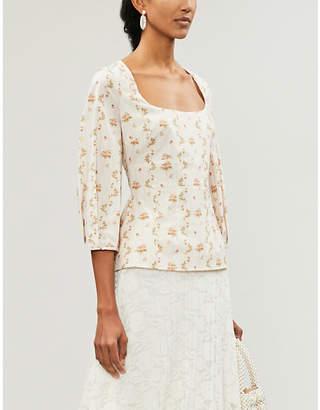 Brock Collection Orecchino floral-print cotton top
