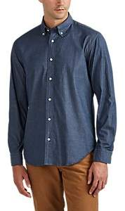 Barneys New York MEN'S COTTON CHAMBRAY BUTTON-DOWN SHIRT