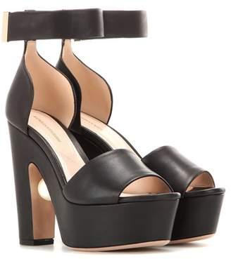 Nicholas Kirkwood Maya leather platform sandals