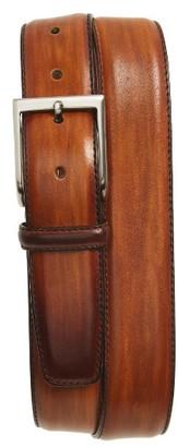 Men's Magnanni Arcade Leather Belt $150 thestylecure.com