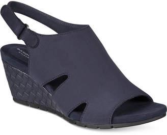 Bandolino Galedale Wedge Sandals $59 thestylecure.com