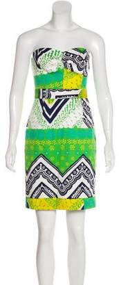 Trina Turk Printed Strapless Dress