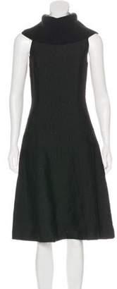 Sally LaPointe Textured Midi Dress w/ Tags Black Textured Midi Dress w/ Tags