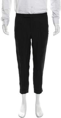Alexander McQueen Flat Front Cropped Pants