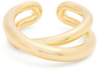 Charlotte Chesnais Initial gold-plated ring