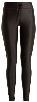 The Upside Drawstring Waist Performance Leggings - Womens - Black