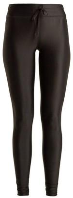 The Upside Drawstring Waist Performance Leggings - Womens - Black