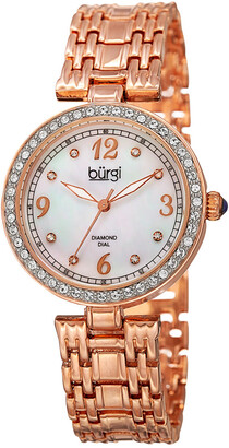 Burgi Women's Alloy Diamond Watch
