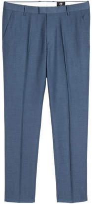 H&M Suit Pants Slim fit - Blue
