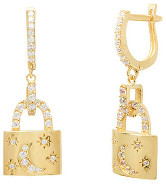 GABIRIELLE JEWELRY Gold Over Silver Cz Earrings