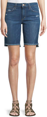 Joe's Jeans Finn Raw-Edge Denim Bermuda Shorts