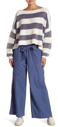 Free People Bluebell Belted Wide Leg Linen Blend Pants