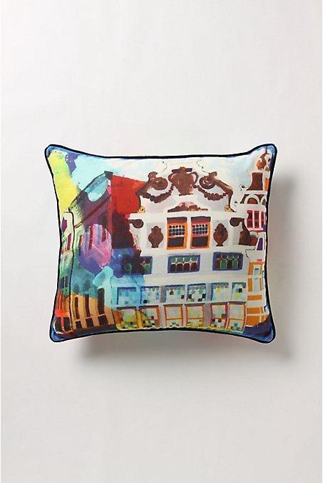 Streets Of Paris Pillow