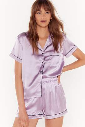 Nasty Gal Satin Chilling Out Pajama Set