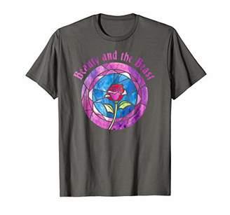 Disney Beauty & The Beast Glass Rose Logo Graphic T-Shirt