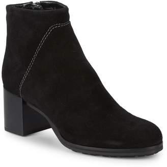 Aquatalia Eileen Block Heel Suede Ankle Boots