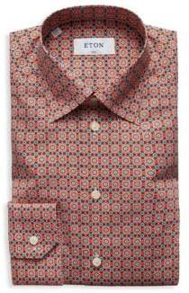 Eton Slim-Fit Floral-Print Cotton Poplin Dress Shirt