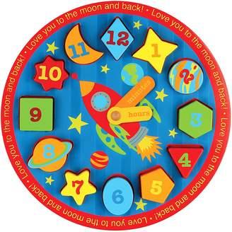 Stephen Joseph Space Wooden Clock Puzzle