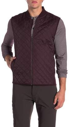Perry Ellis Woven Full Zip Vest