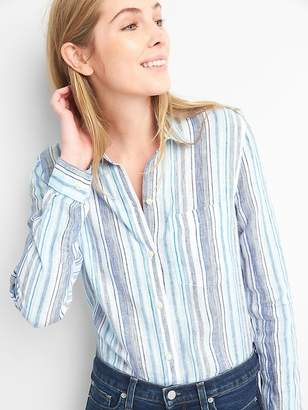 Gap Oversize Boyfriend Shirt in Linen