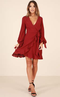 Showpo Light Touch dress in wine