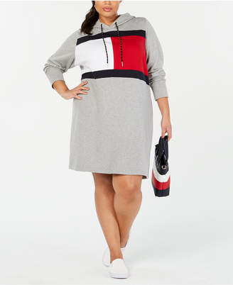 Tommy Hilfiger Plus Size Logo Sweatshirt Dress