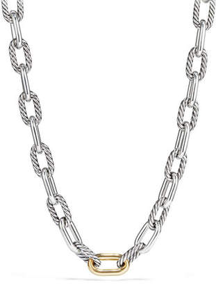 David Yurman Madison Chain 13.5mm Large Link Necklace with 18k Link, 18""