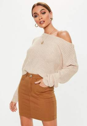 Missguided Rust Denim Superstretch Mini Skirt