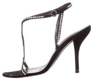 Sergio Rossi Suede Ankle Strap Sandals