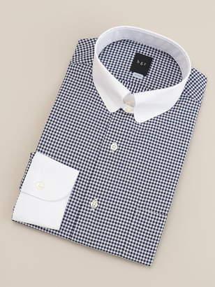 Shirts u0026 Tie 【BGR Slim-fit】タブカラーギンガムチェッククレリックドレスシャツ