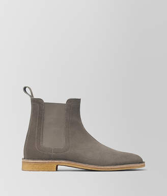 Bottega Veneta VOORTREKKING BOOT IN STEEL SUEDE