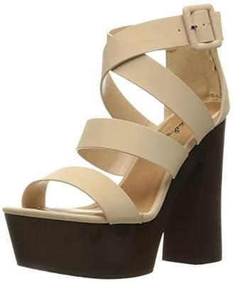 Qupid Women's Framey-20 Platform Sandal
