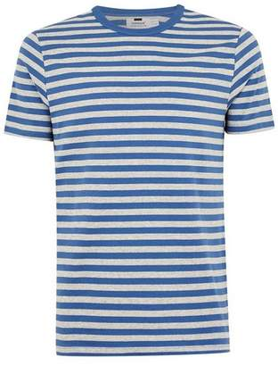 Topman Mens Blue Striped T-Shirt