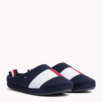 Tommy Hilfiger Colour-Blocked Cotton Slippers