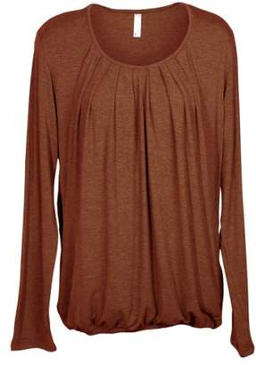 Nurture-Elle Pleated Long Sleeve Nursing Top