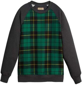 Burberry Tartan Panel sweatshirt