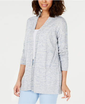 Charter Club Cotton Chambray Open-Front Cardigan