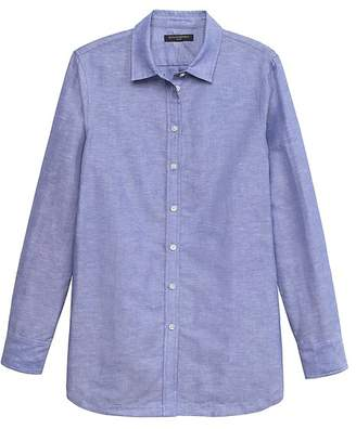 Banana Republic Parker Tunic-Fit Linen-Cotton Shirt
