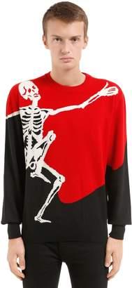 Alexander McQueen Dancing Skeleton Intarsia Wool Sweater