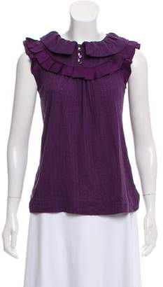 Marc by Marc Jacobs Sleeveless Ruffle Top