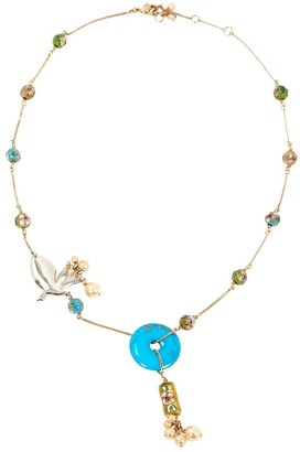 Christian Dior Blue Metal Necklace